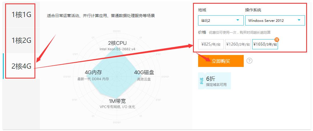 阿里云,2核4G三年,总价1650元的ECS怎么买?